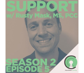 Support with Rusty Mask